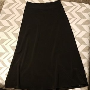 White House Black Market Long Black Skirt Sz 10